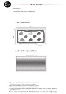 Detailtekening nr. 1 Lijmmethodes voor de EPS isolatieplaten